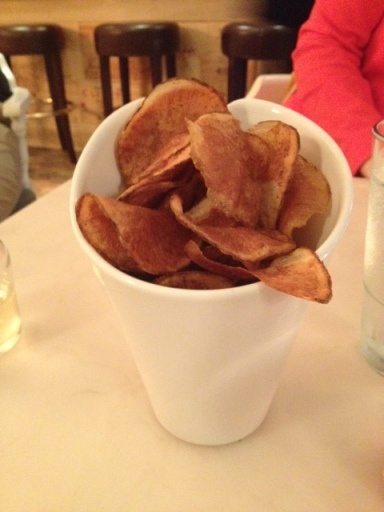 Delicious and crispy chips