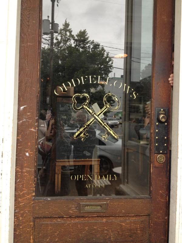 Oddfellows Cafe entrance