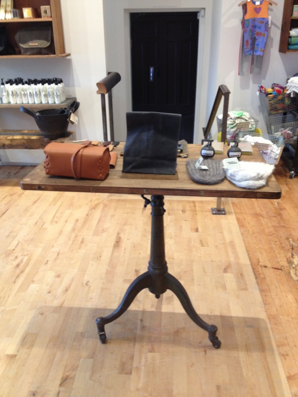 Handcrafted table at NuBe Green