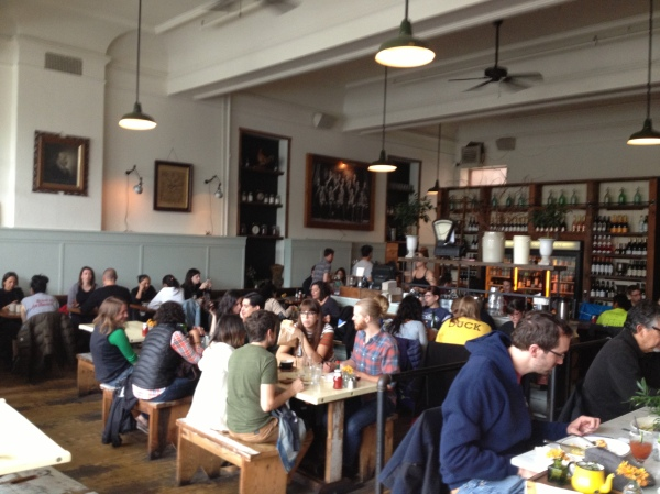 Busy brunch at Oddfellows Cafe